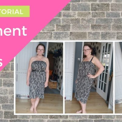 How to sew 3 separate garments from 1 meter of fabric | Cover up, dress & skirt | SEWING TUTORIAL