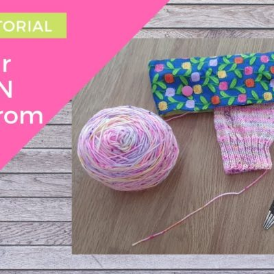 How to SEW a DPN Holder for Double Pointed Needles | Knitting project storage | SEWING TUTORIAL
