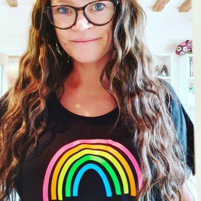 Neon Rainbow T-shirt tutorial